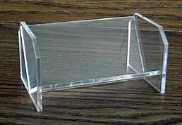 Plain Desk Lucite Business Card Holder